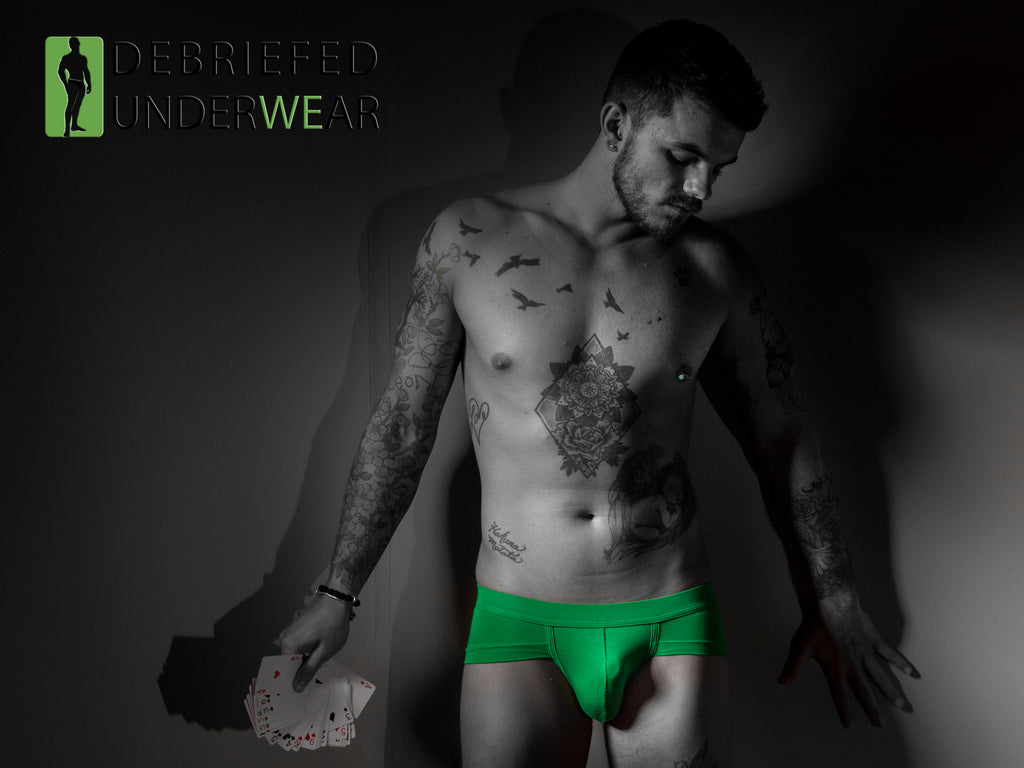 Debriefed Underwear Launch Bold Green Briefs