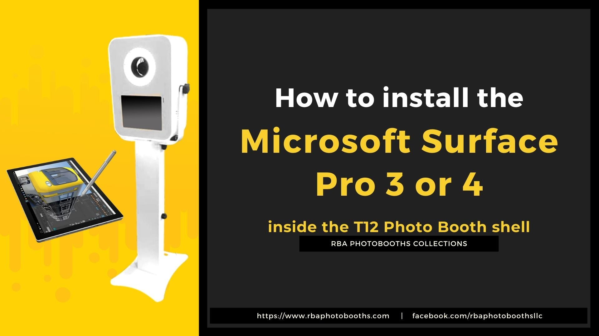 How to Install The Microsoft Surface Pro 3 or 4 Inside The T12 LED Photobooth