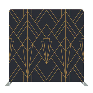 Gray and Gold Line Geometric Tension Fabric Backdrop