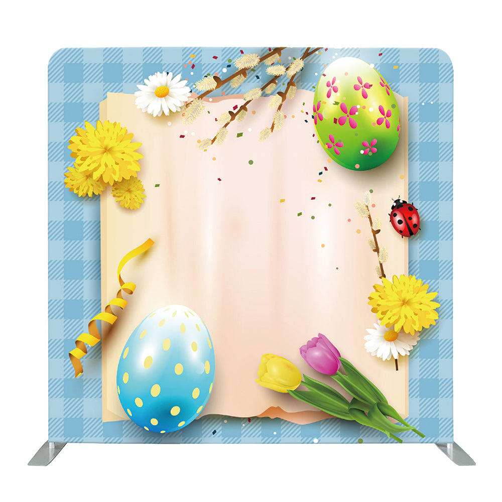 Colorful Easter Eggs Tension Fabric Backdrop