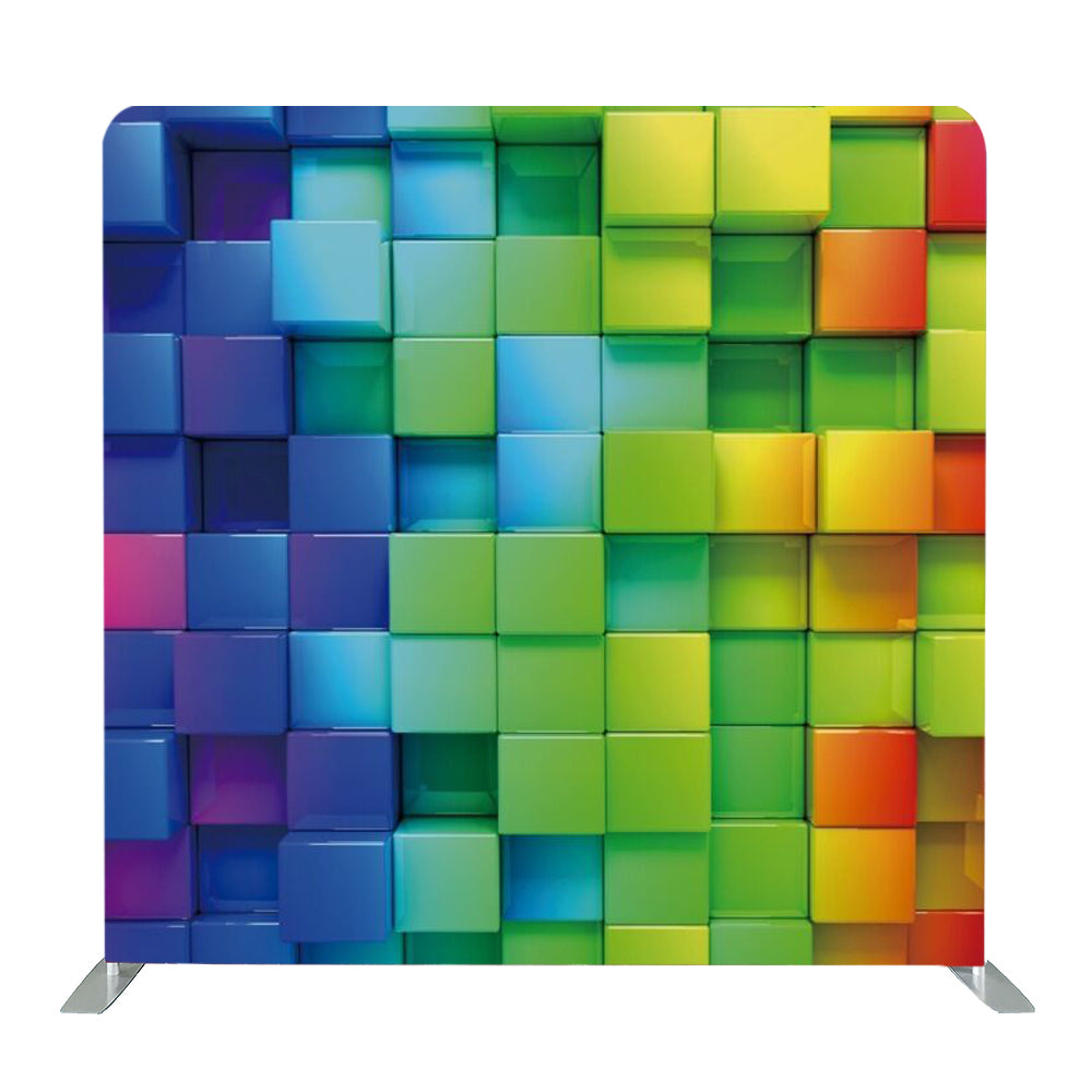 Rainbow Cubes Tension Fabric Backdrop