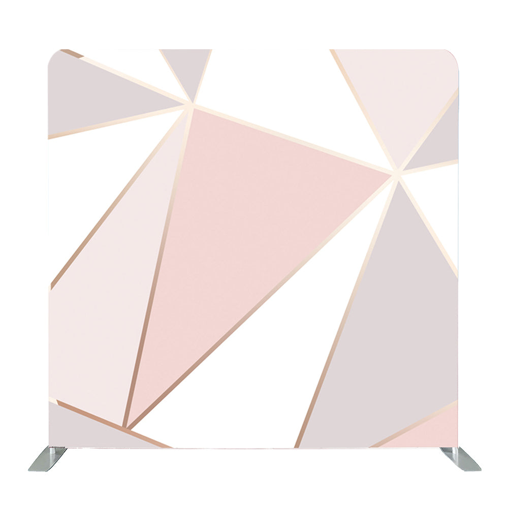 Pink New England Geometric Tension Fabric Backdrop