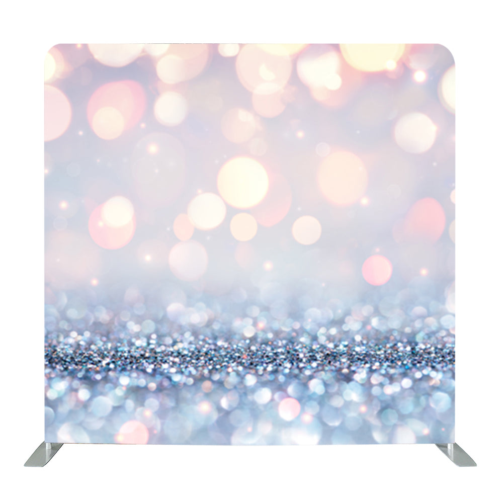 Silver Bokeh Tension Fabric Backdrop