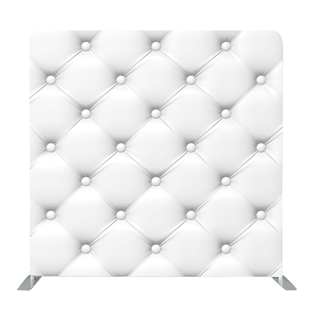 White Leather Tension Fabric Backdrop
