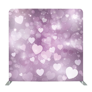 Pastel Purple Heart Bokeh Tension Fabric Backdrop