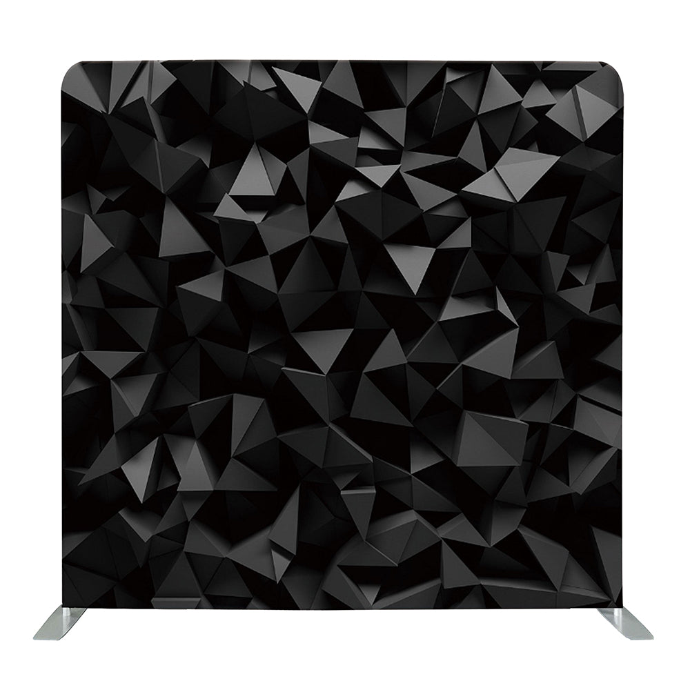 Black 3D Geometric Tension Fabric Backdrop