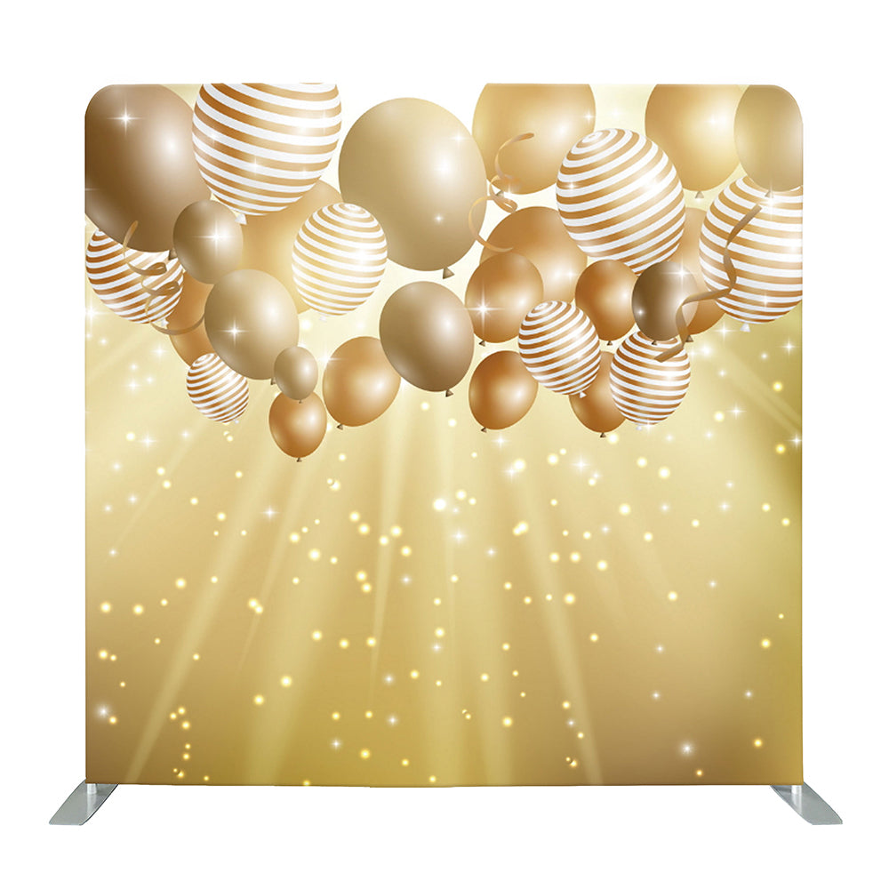 Golden Birthday Party Tension Fabric Backdrop