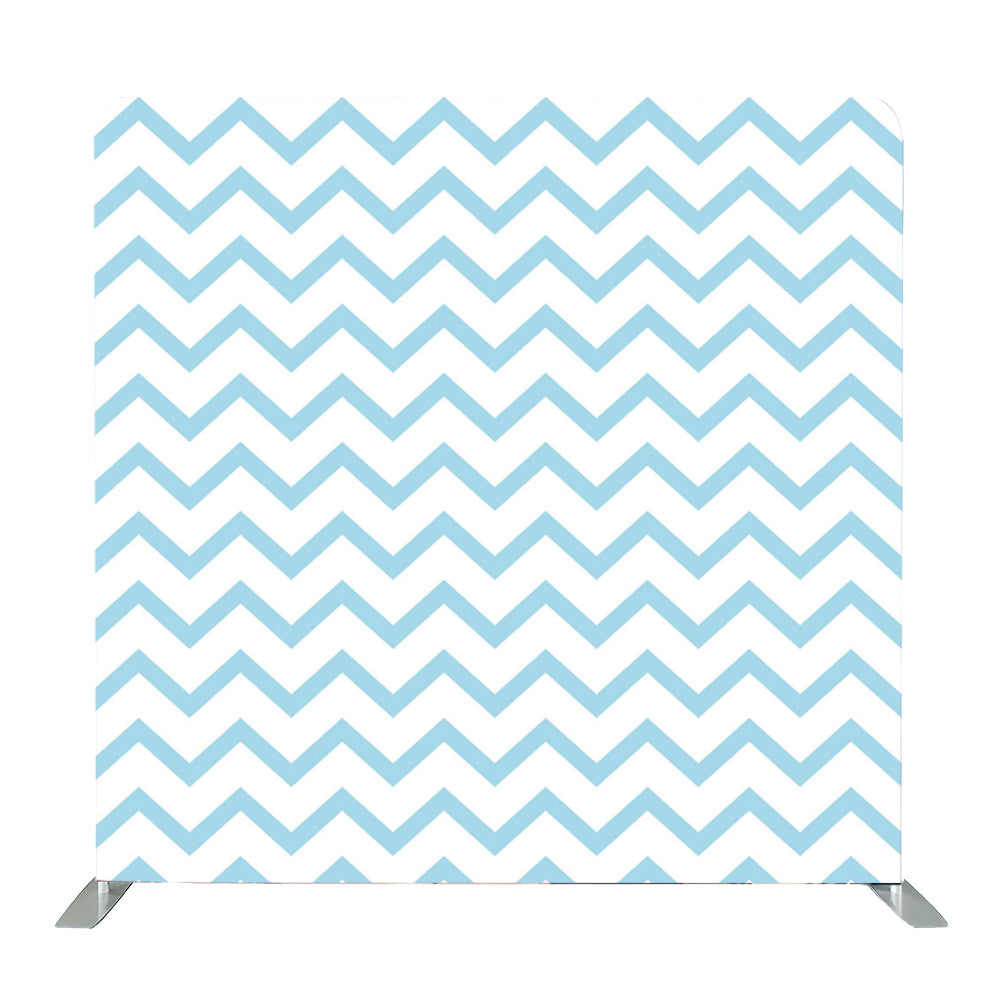 Blue Zigzag Tension Fabric Backdrop