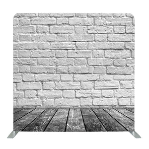 Brick Wall With Wood Tension Fabric Backdrop