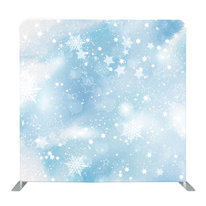 Pastel Blue Winter Tension Fabric Backdrop