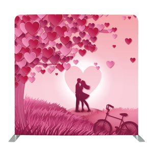 Pink Valentines Day Tension Fabric Backdrop