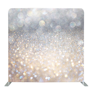 Abstract Light Silver Bokeh Tension Fabric Backdrop