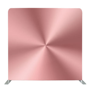 Metallic Rose Pink Tension Fabric Backdrop