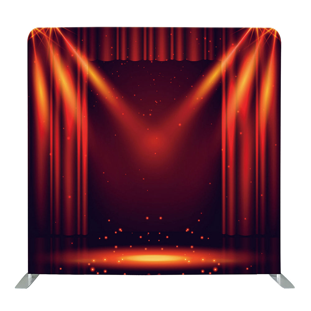 Red Curtain Spotlight Tension Fabric Backdrop