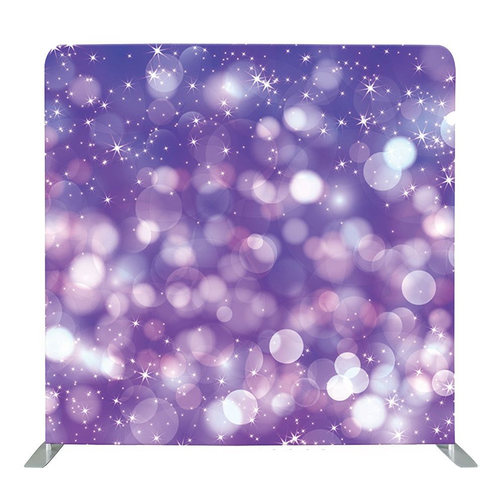 Purple Bokeh Tension Fabric Backdrop