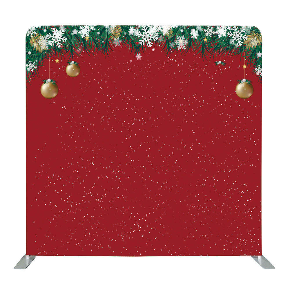 Snowy Christmas Decors Tension Fabric Backdrop