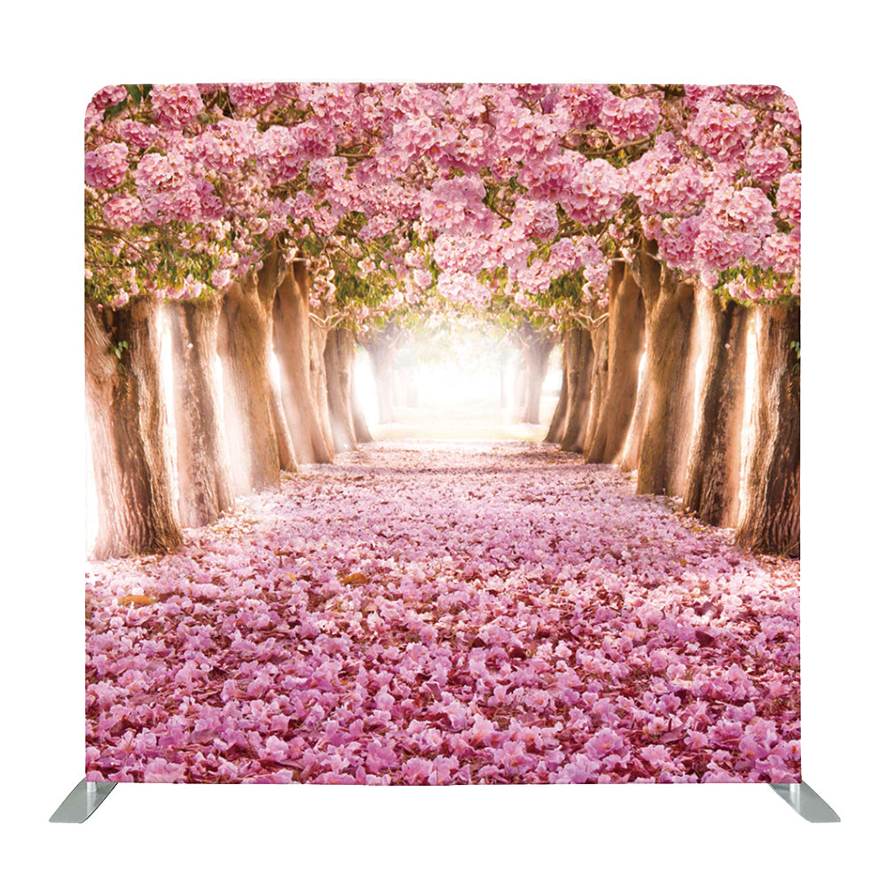 Nature Spring Floral Wedding Tension Fabric Backdrop