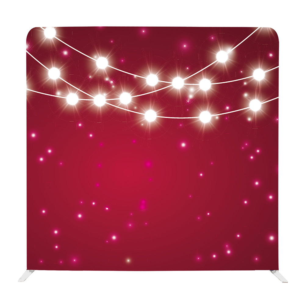Sparkly Christmas String Lights Tension Fabric Backdrop