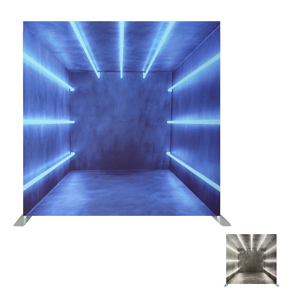 Neon Beam Double Sided Printed Tension Backdrop Set (Frame included)