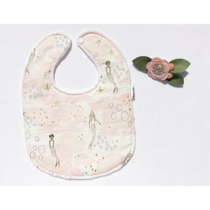 Metallic Magic Mermaid Blossom Baby Bib - Petite Chalet
