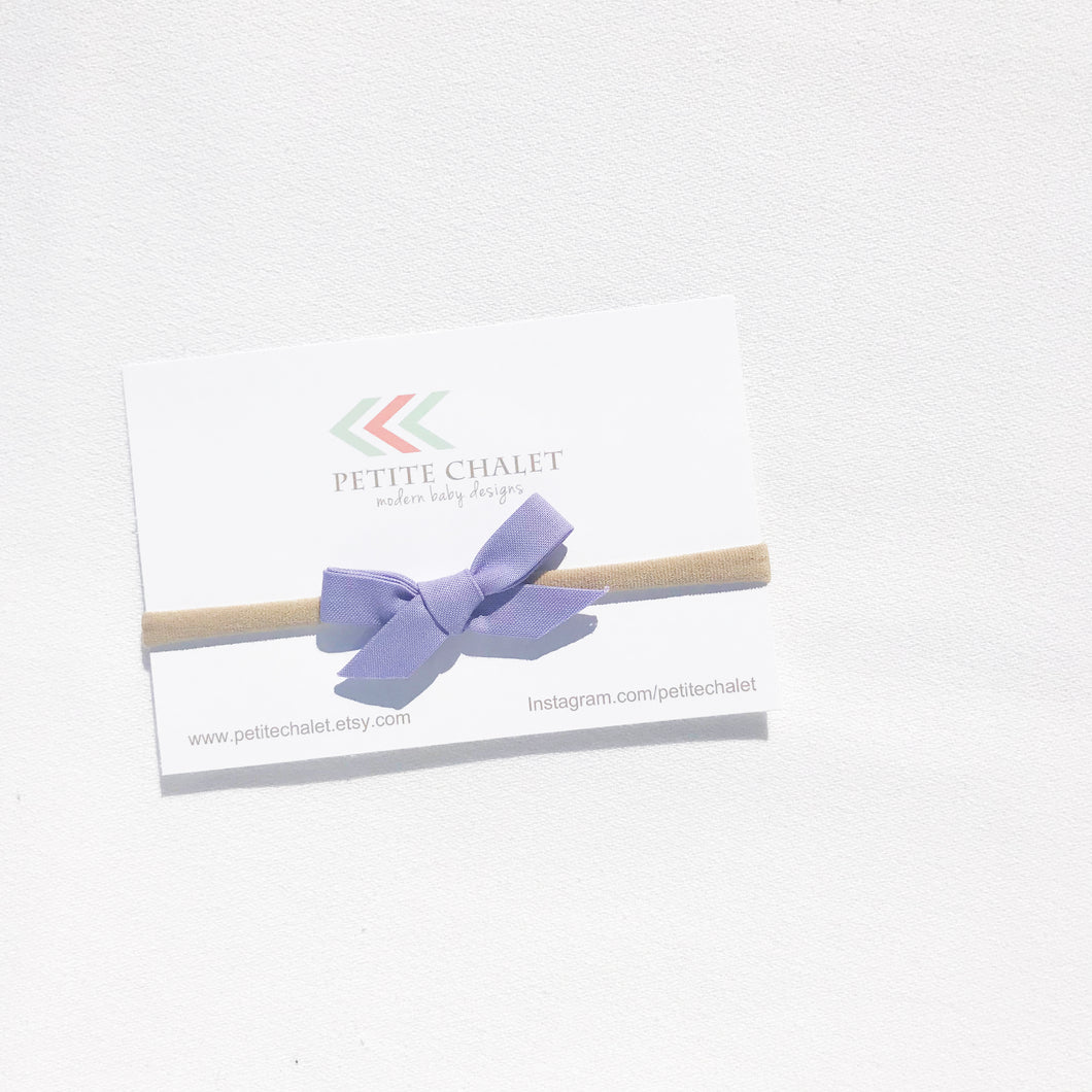 Lilac Baby Bow - Petite Chalet