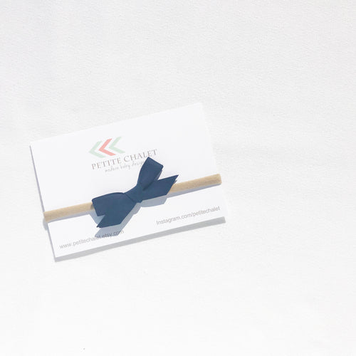 Navy Baby Bow - Petite Chalet