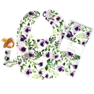 Plum and Green Watercolor Floral - Petite Chalet