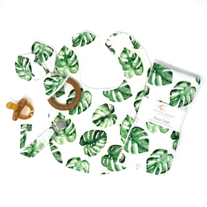 Monstera Leaf Gift Set WITH Teether - Petite Chalet