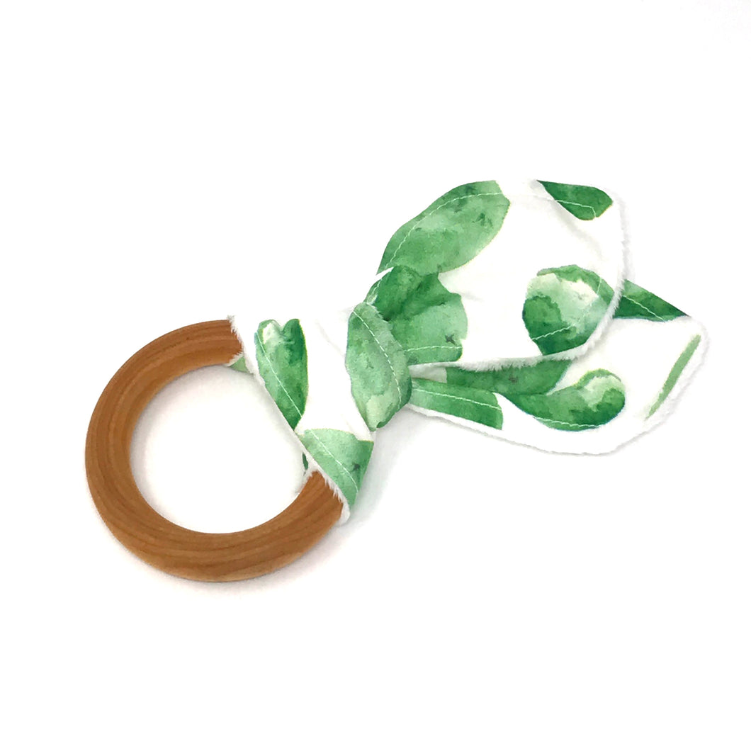 Watercolor Cactus Bunny Ear Teether - Petite Chalet