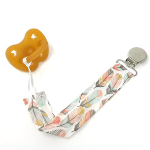 Horizon Feather Pacifier Clip - Petite Chalet