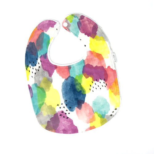 Watercolor Brush Strokes Baby Bib - Petite Chalet