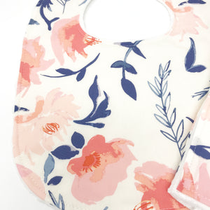 Floral Aquarelle Study in Wash Baby Bib - Petite Chalet