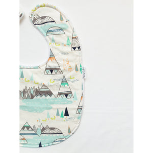 Indian Summer Woodland Pine Baby Bib - Petite Chalet