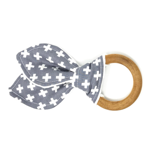 Gray Plus Bunny Ear Teether - Petite Chalet