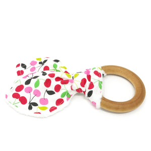 Cherries Bunny Ear Teether - Petite Chalet