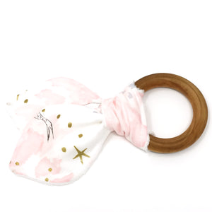 Metallic Magic Mermaid Blossom Bunny Ear Teether - Petite Chalet