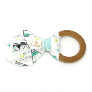 Indian Summer Woodland Pine Bunny Ear Teether - Petite Chalet