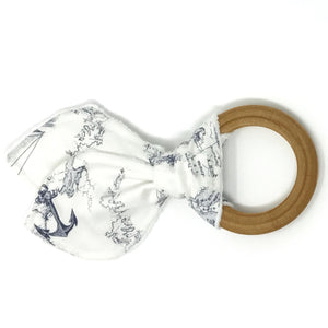 Old World Nautical Bunny Ear Teether - Petite Chalet