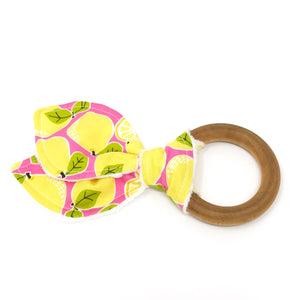 Lemon Bunny Ear Teether - Petite Chalet