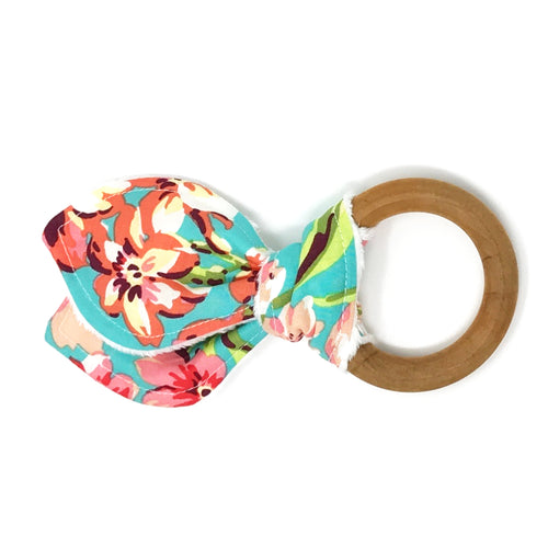 Love Bliss Floral Bunny Ear Teether - Petite Chalet