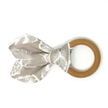 Plume in Taupe Bunny Ear Teether - Petite Chalet