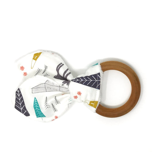 Winter Deer and Mountains Bunny Ear Teether - Petite Chalet