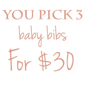 Create Your Own Baby Bib Trio - Petite Chalet