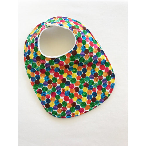 Very Hungry Caterpillar Small Dot Baby Bib - Petite Chalet