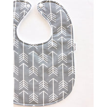 Gray Arrow Baby Bib - Petite Chalet