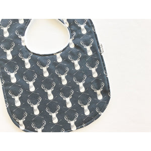 Gray Stag Baby Bib - Petite Chalet