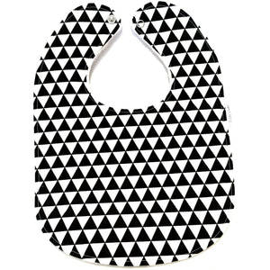 Monochrome Remix Triangles Baby Bib - Petite Chalet