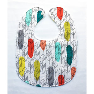 Birds of a Feather Quill Baby Bib - Petite Chalet