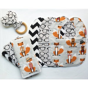 Dapper Fox and the Houndstooth Gift Set - Petite Chalet