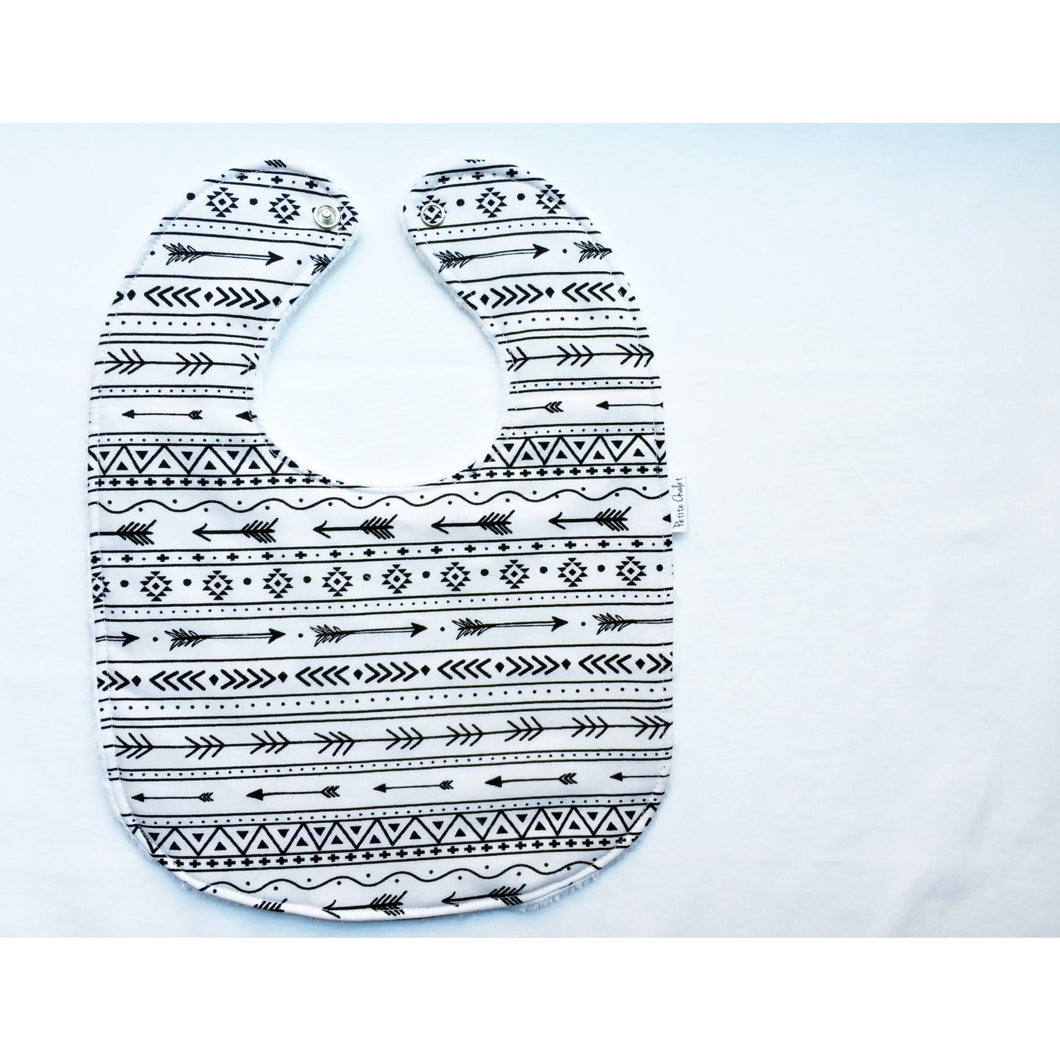 Tribal Arrow Baby Bib - Petite Chalet